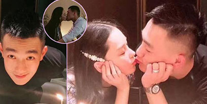 张馨予为老公何捷庆生 结婚一周年甜蜜热吻