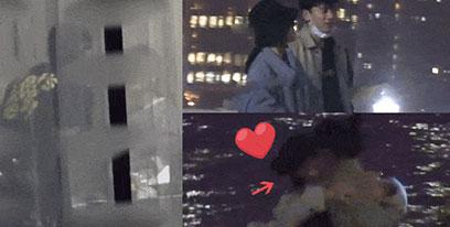 谢娜张杰深夜外滩漫步 夫妻相拥热吻画面太腻歪